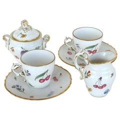 "Richard Ginori 'Italy' ""Perugia"" Lidded Sugar Bowl, Creamer, Cups and Saucers"