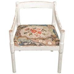 Sedia Bianca Armchair with Mosaic Seat by Yukiko Nagai