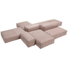 Amura 'Davis' Sofa and Living Set in Leather