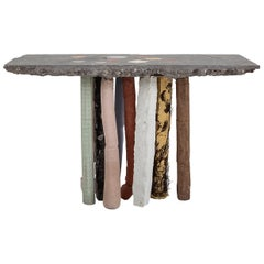 Fossil Console in Concrete by Nacho Carbonell