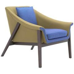 Amura 'Gaia' Armchair in Khaki and Blue by Maurizio Marconato & Terry Zappa