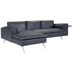 Amura 'Al' Composition Sofa in Black Leather by Luca Scacchetti