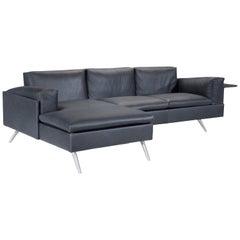 Amura 'Al' Composition Sofa in Black Leather by Luca Scacchetti