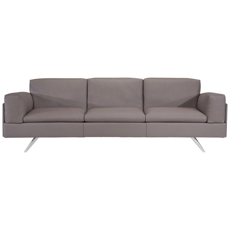 Amura 'AL' Sofa in Taupe Leather by Luca Scacchetti 1
