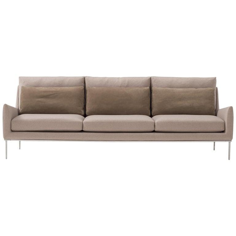Amura 'Alice' Sofa in Tan by Luca Scacchetti For Sale
