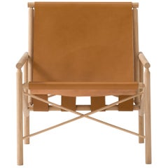 Amura 'Ease' Chair in Light Brown Leather by Gareth Neal