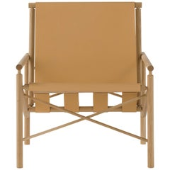 Amura 'Ease' Chair in Light Tan Leather by Gareth Neal