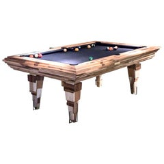 'Light Tropics' Handcrafted Pool Table and Cue Stand by Hillsideout