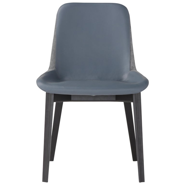 Amura 'Panis' Chair in Blue Leather by Emanuel Gargano & Anton Cristell For Sale