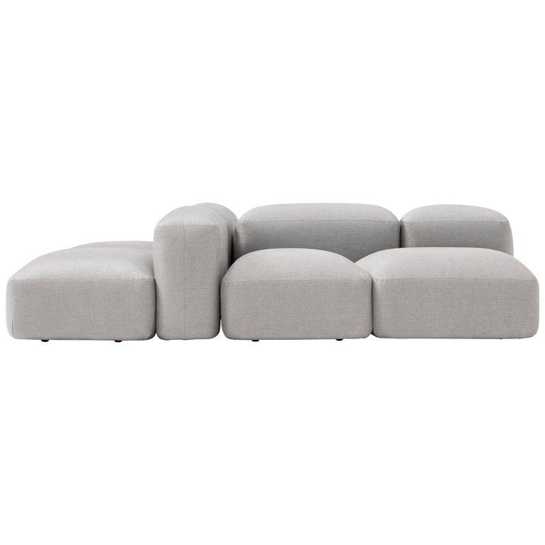Amura 'Lapis' Sofa in Light Grey by Emanuel Gargano & Anton Cristell For Sale