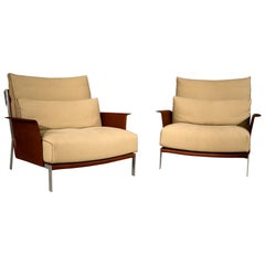 Amura 'Link' Armchair in Beige and Brown by Maurizio Marconato & Terry Zappa