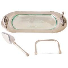 Art Deco Silver Plate Foie Gras Dish