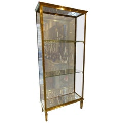 Stunning Brass Display Cabinet, Early 1900s, France