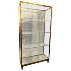 Early 20th Century Brass and Glass French Display Cabinet
