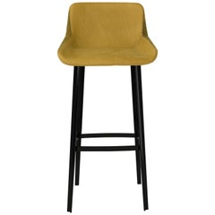 Amura 'Panis' Bar Stool in Melange Leather by Emanuel Gargano & Anton Cristell