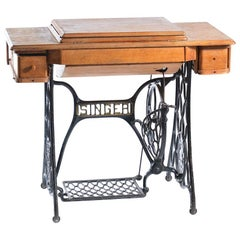 Rare Singer Sewing Table with the Machine, 1908 Wittenberge Factory in Germany