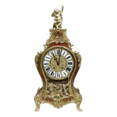 French 19th Century Louis XV Style Boulle Bracket Clock