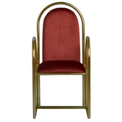 Arco Chair with Velvet Upholstery