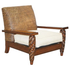 Ralph Lauren Speciality Madison Ave New York Woven Rattan Armchair