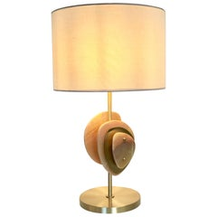 "Beautiful Onyx and Brass Table Lamp ""Satellite"""