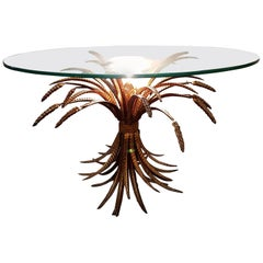 Sheaf of Wheat Table with Centre Light, Italian, 1950s