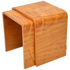 1920s Art Deco Satin Wood Nest of Tables