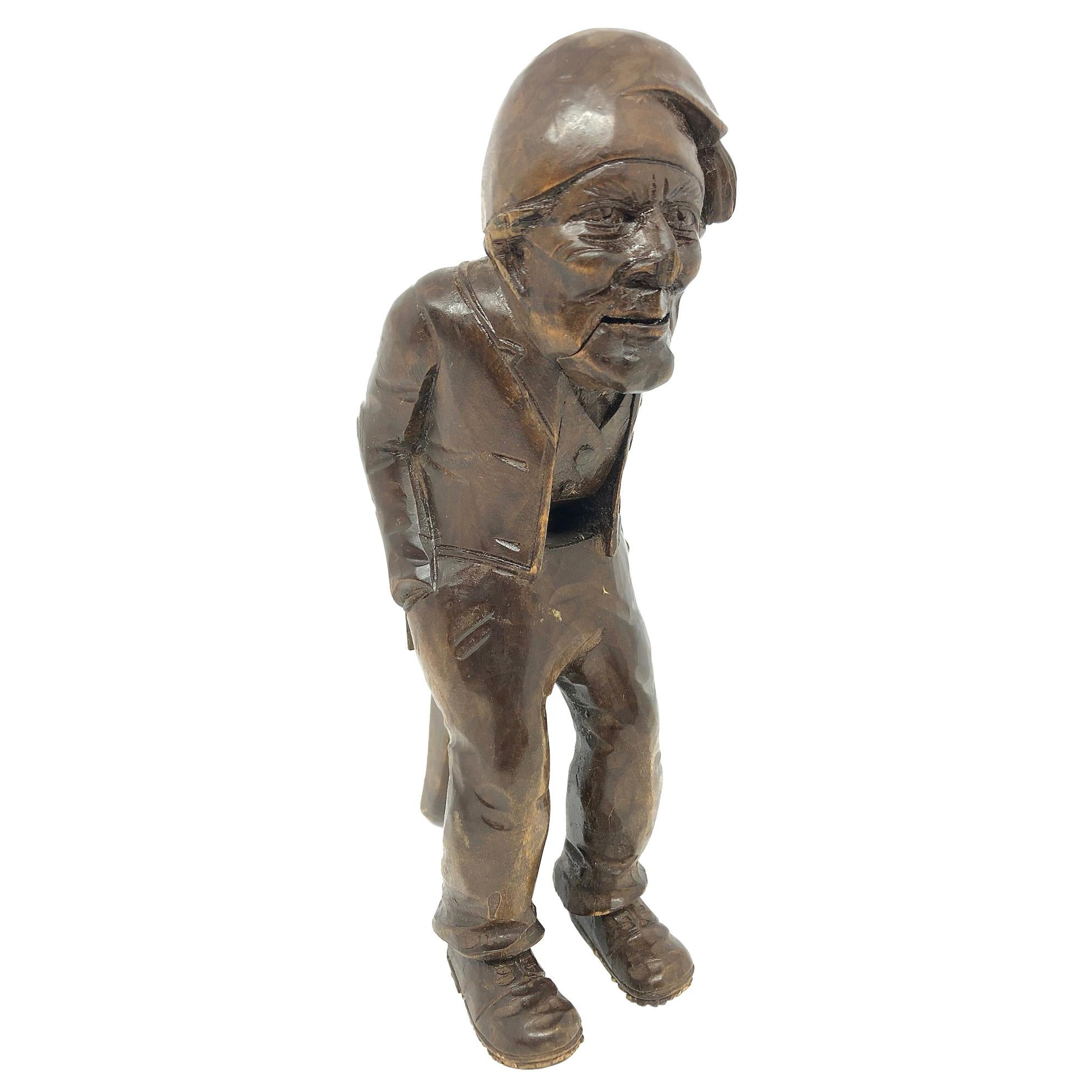 Wood Black Forest Brienz Carved Figural Nutcracker German Antique, 1900s