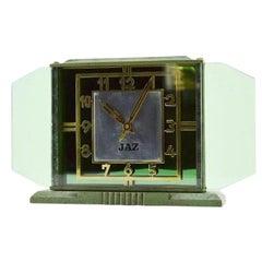 French Art Deco Clock by JAZ, 1930s