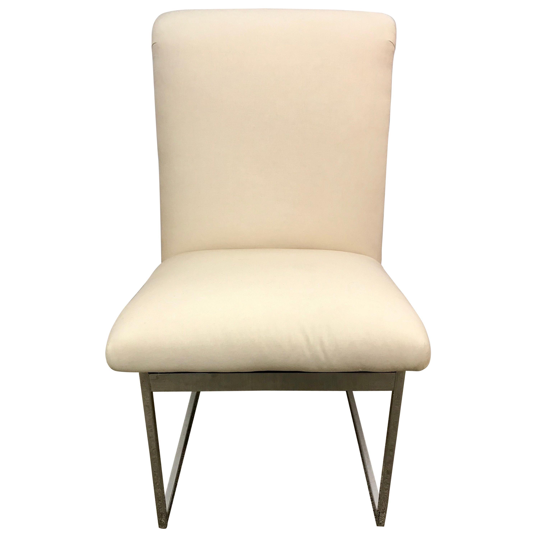 Mid-Century Modern Milo Baughman Style Heavy Chrome Chair