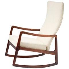 Ole Wanscher FD-160 Rosewood Rocking Chair, circa 1960