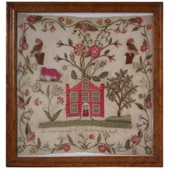1809 Antique Sampler by Mary Smithson, Country House