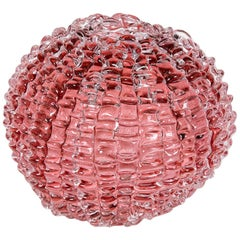 Echinus in Heliotrope, a unique pink Glass centrepiece by Katherine Huskie