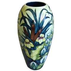 Moorcroft Pottery Large Vase in Lamia Pattern Designed by Rachel Bishop, 1996