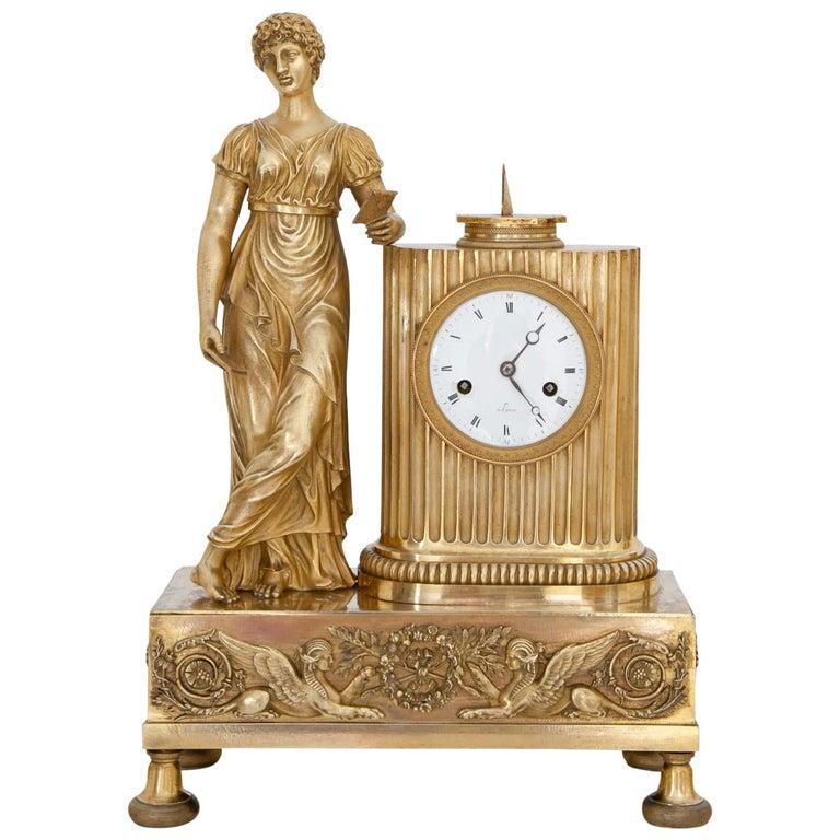 Empire Mantel Clock, France, circa 1810 1