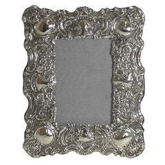 Stunning Antique English Sterling Silver Photograph Frame, 1902