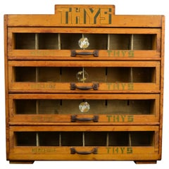 Haberdashery Advertising Drawer Cabinet, Thys Belgium, 1950s
