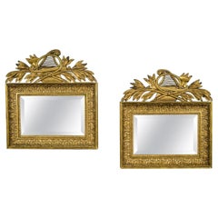 Pair of Neo-Classical Mirrors with Musical Trophies