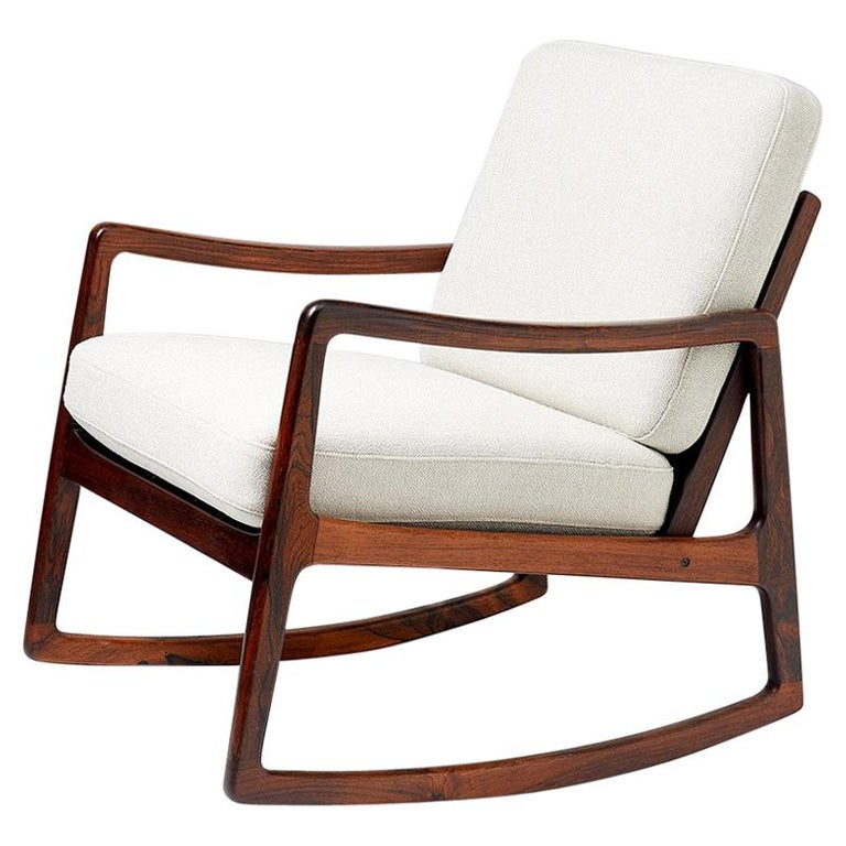 Ole Wanscher Fd 120 Rosewood Rocking Chair Circa 1960 For