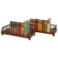Pair of Regency Rosewood Book Stands