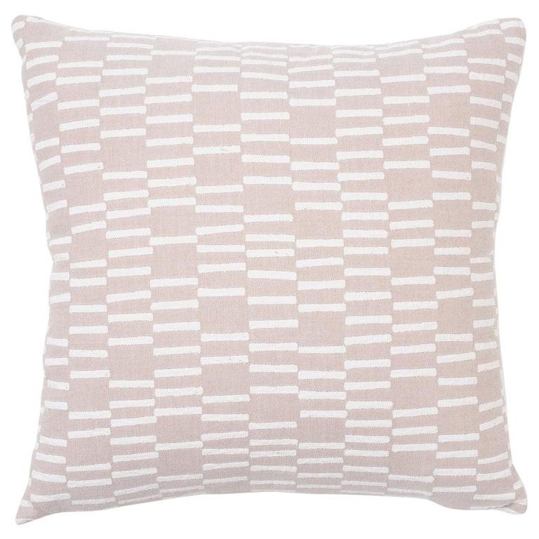 Schumacher Caroline Hurley Cedar Tree Neck Clay Two-Sided Cotton Linen Pillow For Sale