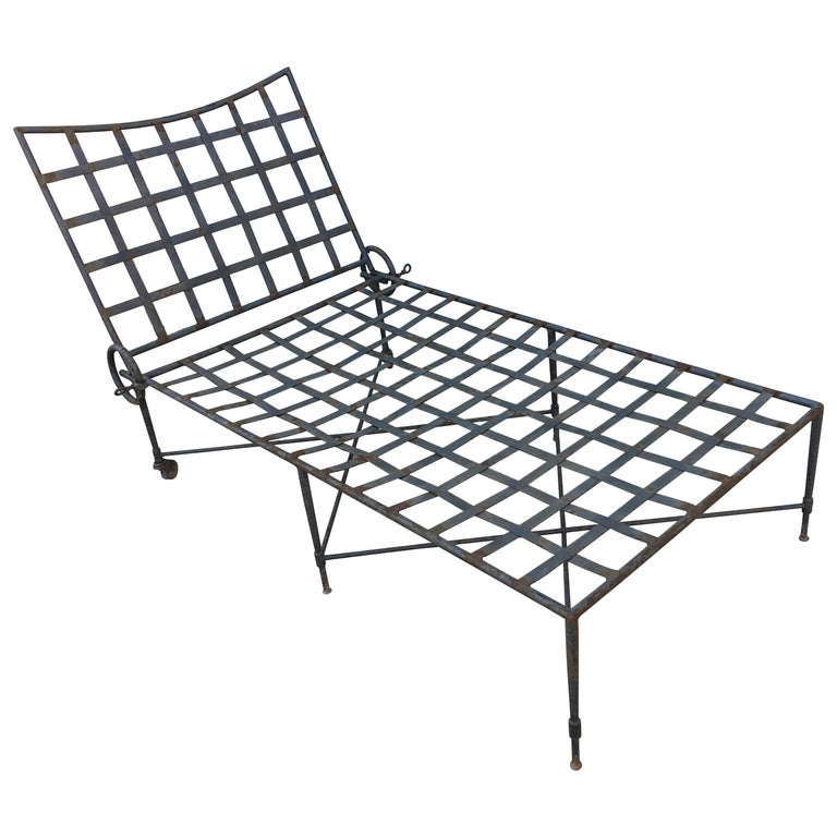 American Midcentury Chaise Lounge Mario Papperzini for Salterini  For Sale