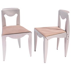 """Set of Two """"Liberta"""" Chairs by Afra & Tobia Scarpa for Meritalia, Italy, 1989"""