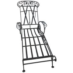 Salterini Midcentury Chaise Lounge
