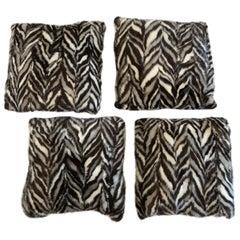 Set of 4 Luxurious Mink and Linen Custom Pillows