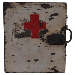 Vintage Wood Medical Box, First Aid Box