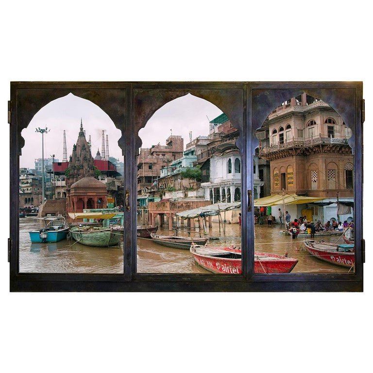 Anotherview n.14 On the Ganges During Monsoon For Sale