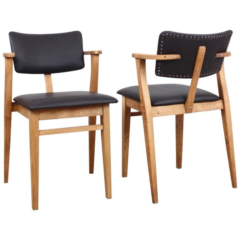 Set of 2 Domus Armchairs by Ilmari Tapiovaara, Finland For Sale