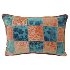 Pink and Blue Romance through the Gilded Age's Asian Textiles Patchwork Pillow