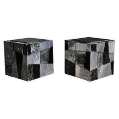 """Paul Evans """"Argente"""" Cube Side Tables"""