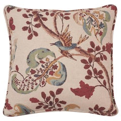 Schumacher Fox Hollow Document Natural Two-Sided Linen Cotton Pillow